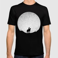 The Rising Sunset Mens Fitted Tee Black SMALL