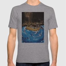 gently down the stream Mens Fitted Tee Athletic Grey SMALL