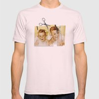 Tainted Minds Mens Fitted Tee Light Pink SMALL