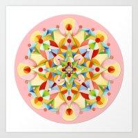 Pastel Carousel Pink Cir… Art Print