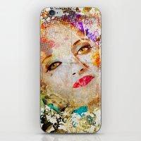 Retro Woman iPhone & iPod Skin
