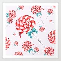 Lollies Art Print
