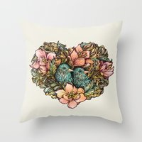 Bluebird Valentine Throw Pillow