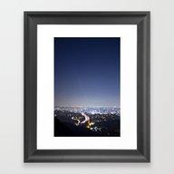 LA Night Framed Art Print