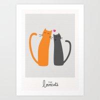 The Lovecats Art Print