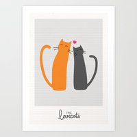 The Lovecats Art Print