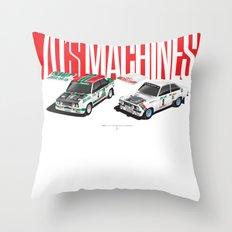 70's Machines Throw Pillow