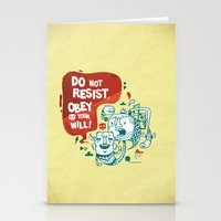 Obey Your Will Stationery Cards