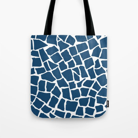 Mosaic Zoom Navy Tote Bag