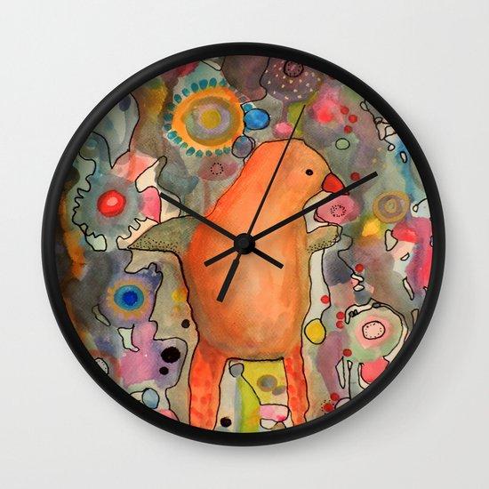 primerose Wall Clock