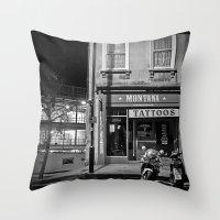 Montana Tattoos Throw Pillow