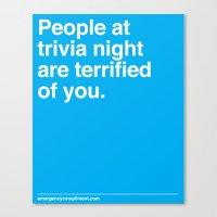 Trivia Night Canvas Print