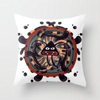 Evil Mandala Throw Pillow