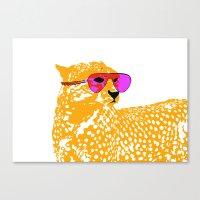 Cheetah With Sunglasses … Canvas Print