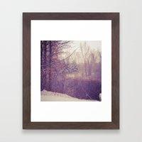 Detroit Winter Framed Art Print
