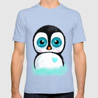 Joc the Penguin Mens Fitted Tee Tri-Blue SMALL