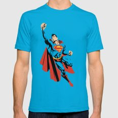 DC - Superman Mens Fitted Tee Teal SMALL