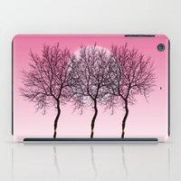 Triplet Trees In Pink iPad Case