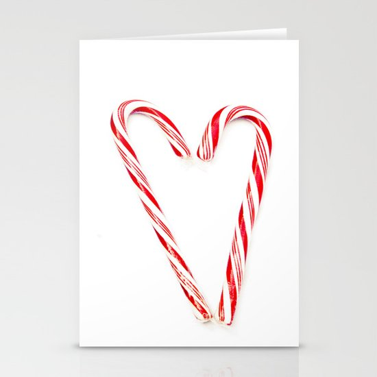 Candy Cane Love Stationery Card