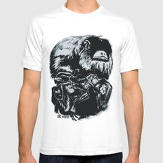 Old World Monkeys White SMALL Mens Fitted Tee
