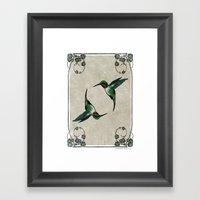 The Humming Birds Framed Art Print