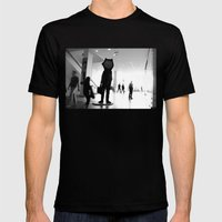 Time goes by Mens Fitted Tee Black SMALL