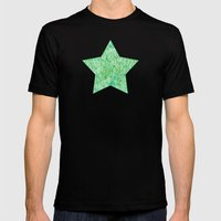 Green Wall Mens Fitted Tee Black SMALL