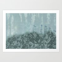 Underwater Ledge Art Print
