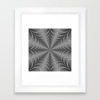 Silver Web Framed Art Print