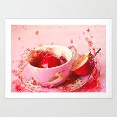 Apple splash Art Print