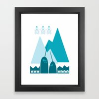 Heart The Narwhal Framed Art Print