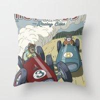 Hot Rods and Racing Cars No.26 Throw Pillow