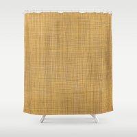 Wicker background Shower Curtain