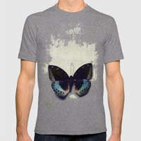 Vintage Butterfly 4 Mens Fitted Tee Tri-Grey SMALL