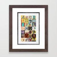 Type Framed Art Print