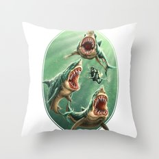 Great White Sharks #1 Throw Pillow