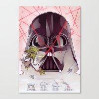 Yoda Slice Canvas Print