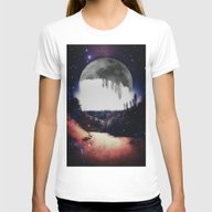 Night Hike Womens Fitted Tee White SMALL