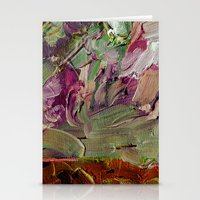 Abstract Purple Green Sky Stationery Cards