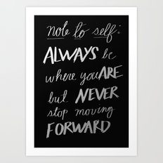 Note to Self: Art Print