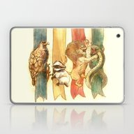 Laptop & iPad Skin featuring House Brawl by Alice X. Zhang