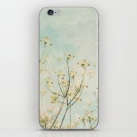 White Dogwood Tree Spring Flower Branches Painterly iPhone & iPod Skin