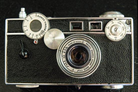 Vintage Range finder camera. Art Print