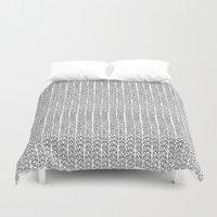 Knit Outline Duvet Cover