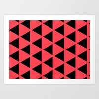 Sleyer Black on Pink Pattern Art Print