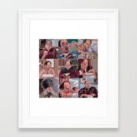 9 Shades Of Costanzas Framed Art Print