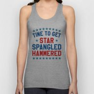 Time To Get Star Spangle… Unisex Tank Top