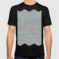 Chevron Rainbows Mens Fitted Tee Tri-Black SMALL