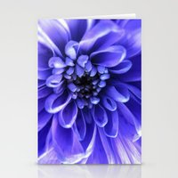 Macro Blue Stationery Cards