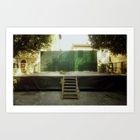 the stage Art Print